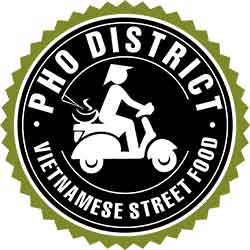PHO DISTRICT - Vietnamese Street Food of Ft Worth - Kenzo Tran - West 7th Logo 2